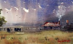 padi fields water color painting - Google Search