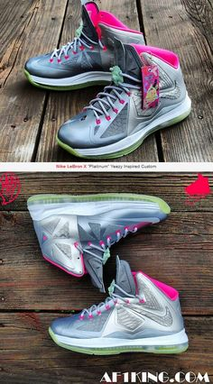 "THE SNEAKER ADDICT: Nike LeBron X ""Platinum"" Yeezy 2 Inspired Custom Sneaker (Detailed Images)"