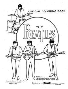 kleurplaat Beatles Kids-n-Fun