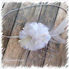 Newborn Flower Headband Newborn Couture Headband by MiyahsCloset