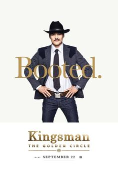 Pedro Pascal as Jack Daniels in the official character poster for Kingsman: The Golden Circle Watch Kingsman, Kingsman Movie, New Movies, Movies Online, Circle Movie, Kingsman The Golden Circle, Kingsman The Secret Service, Matthew Vaughn, Posters