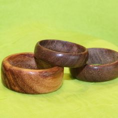 Rings made from solid wood--I want to do this!