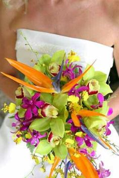 Another bouquet idea with bird of paradise