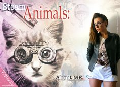 Steam Animals (GORGEOUS style) T-shirt unisex: CAT (read description to know more about your right archetype)