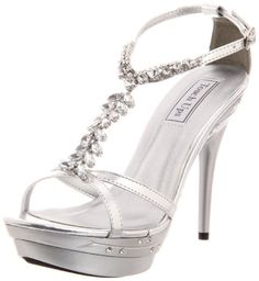 Touch Ups Womens Patsy Platform SandalSilver Metallic8 M US >>> You can get more details by clicking on the image.