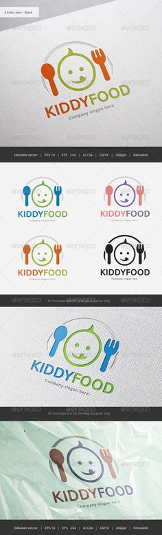 Kid Food Logo — Vector EPS #kid #yummy • Available here → https://graphicriver.net/item/kid-food-logo/5840357?ref=pxcr