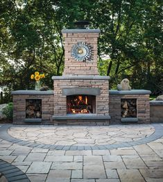 With Belgard, you can create outdoor living rooms that become the hub of activity for your family. Imagine roasting marshmallows over a crackling fire or cuddling up on a cool fall evening in front of the hearth. Now that's living. Paver Deck, Brick Pavers, Fire Pit Designs, Pool Designs, Fireplace Dimensions, Pizza Oven Outdoor, Outdoor Living Rooms, Fireplace Accessories, Outdoor Fire