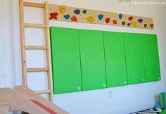 DIY Indoor Playroom Climbing Ladder - bystephanielynn