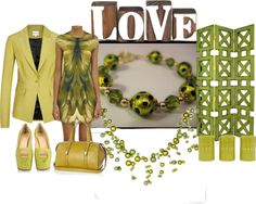 """""""lime green and yellowish"""" by lovetodrinktea ❤ liked on Polyvore"""