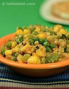 Vatana Makai nu Shaak recipe   Jain Recipes