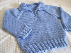 "marinoie: Братья ""Revelry Telemark Pullover, with ribbing instead of seed stitch hems. Easy Baby Knitting Patterns, Baby Cardigan Knitting Pattern Free, Baby Sweater Patterns, Knitting For Kids, Baby Patterns, Free Knitting, Hoodie Pattern, Baby Boy Sweater, Toddler Sweater"