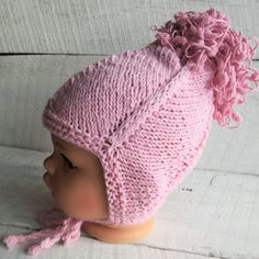 Check out this item in my Etsy shop https://www.etsy.com/listing/261051135/knit-pink-hat-earmuffs-ear-warmers-baby
