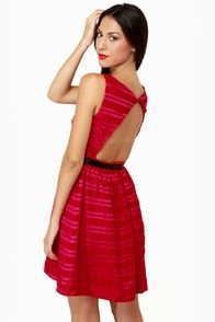e5ab3627b1 Red Backless Dress, Chic Dress, Fancy Dress, Discount Womens Clothing,  Casual Dresses