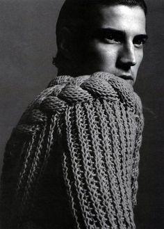 Menswear knit. Awesome.