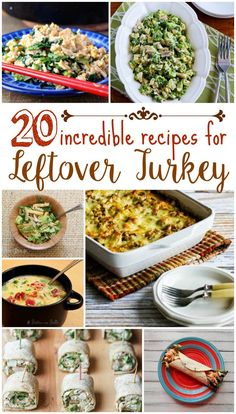 20 Incredible Recipes for Leftover Turkey - from salads to appetizers to main dishes and more. How to use your turkey leftovers after the holidays (these recipes work well with chicken, too!)