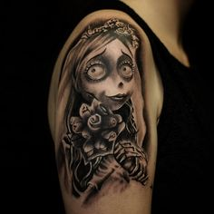 Tim Burtons 'Corpse Bride' tattooed here at @hammersmithtattoo by Archie RT aka Noodles_tattoo #tattoo #tattoos #corpsebride #corpsebridetattoo #halloween #hammersmithtattoo #londontattoo