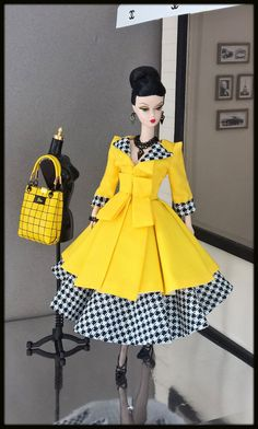 OOAK Fashions for Silkstone / Fashion Royalty/ Vintage barbie / Poppy Parker #Lovefashion