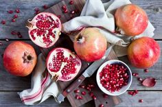 Pomegranate Seeds And Fruit Wallpaper