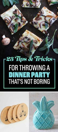 23 Awesome Ideas For Throwing Your First Dinner Party