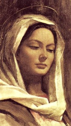 Ave Maria from a prayer card. The peaceful, knowing expression is captivating. Divine Mother, Blessed Mother Mary, Blessed Virgin Mary, Mutter Maria, Catholic Art, Religious Art, Vintage Holy Cards, Madonna Art, Images Of Mary