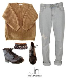 """""""Horseback riding with Jin"""" by btsoutfits ❤ liked on Polyvore featuring Timberland, Étoile Isabel Marant, Insight 51 and Boohoo"""