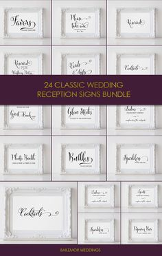 Printable wedding signs bundle. Grab your wedding sign pack and save. Help your guest navigate your wedding receptions with these classic black and white wedding signage.