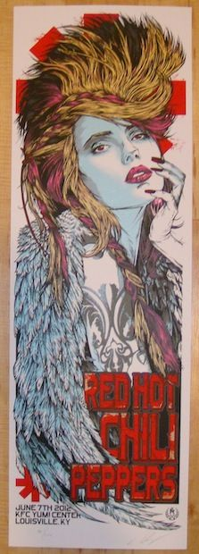 2012 Red Hot Chili Peppers - Louisville Poster by Rhys Cooper