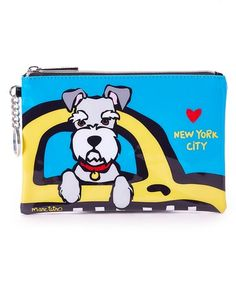 Look what I found on #zulily! Blue Schnauzer Taxi Zip Pouch #zulilyfinds