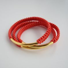 helloberry Bracelet Tangerine Stack listing is for by helloberry, $14.00