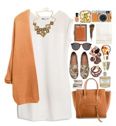 1720. Brown & White by chocolatepumma on Polyvore featuring polyvore, fashion, style, MANGO, TOMS, Sara Designs, Ostfold, Illesteva, Library of Flowers, Deborah Lippmann and Jigsaw