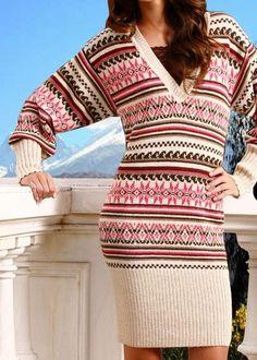 **VINTERSALG -50%**Kjole med peruviansk smak. 100% babyalpakka