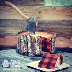 plaid lumberjack cake on instagram