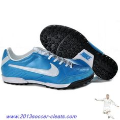 Authentic Mens Nike Tiempo Natural IV TF Turf in Blue White For Sale