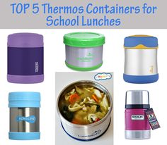 top 5 thermos containers for school lunches. No leaks, hold the temperature, and…