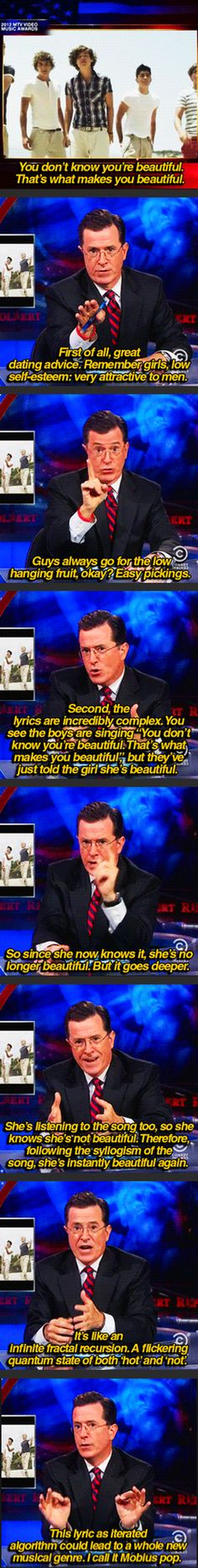 Stephen Colbert On The Complexity Of One Direction's Lyrics