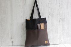 Le tote bag d'hiver, une idée tendance et originale ! Par les créateurs Johnny & June sur DaWanda.com <3 Bi-matières, Tri-matières même ! #liege #ecocuir #coton