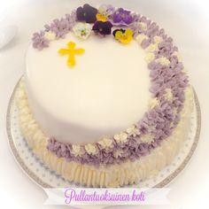 Pullantuoksuinen koti: Rippijuhlat ja The Rippijuhlakakku Flora, Birthday Cake, Baking, Desserts, Cakes, Colors, Tailgate Desserts, Birthday Cakes, Deserts