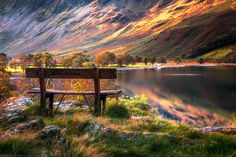 Bench, Buttermere Lake, Lake District, Cumbria, England by Joe Daniel Price on 500px