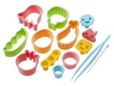 CuteZCute Bento Ham Cheese Carrot Cutter, 14-Piece, Fun Shapes >>> Check out this great image @ : Baking Accessories