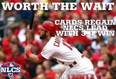 Carpenter's 2-run shot lifts Cards to Game 3 victory.
