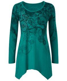 LC621 - Eye Catching Emerald Tunic  - Eye Catching Emerald Tunic, Women's Dresses and Tunics, Womens Clothing, Clothing, Accessories, Joe Browns