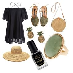 """""""black green gold"""" by bedzia on Polyvore featuring Mar y Sol, Marc Jacobs and Barry M"""