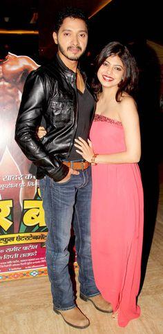 Shreyas Talpade with wife Deepti at the screening of the Marathi film 'Poshter Boyz'. #Style #Bollywood #Fashion #Beauty #Marathi