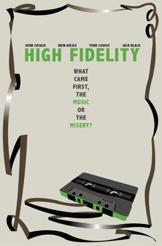 An unofficial,  re-imagined version of the High Fidelity movie poster