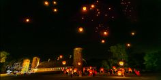 Chinese Lanterns at the Barn #Perona Farms,  -  Will Blochinger Wedding Photography