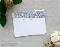 Our beautiful Floral Fretwork Note Cards are perfect way to tell your guests thank you, or to simply drop a line. Shown here in Navy Ink.  *SET OF 25 Note Cards*  All Paperwhites products are digitally printed (flat print) on a commercial quality printer on the finest quality papers.  ∴∴∴∴∴∴∴∴∴∴∴∴∴∴∴∴∴∴ When Ordering ∴∴∴∴∴∴∴∴∴∴∴∴∴∴∴∴∴  Please include the following information in NOTES TO SELLER: ∴ Names/Wording for Note Cards ∴ Paper Choice *see photos for options* ∴ Ink Colors *see pho...