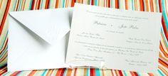 Convite de casamento - Tradicional