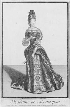   Françoise d'Aubigné, marquise de Maintenon (1635-1719) - en habit de cour, un éventail à la main   Images d'Art