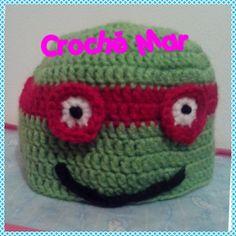 Gorro de tortuga ninja por Croche Mar