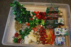 "Exciting Christmas Sensory Tub from Playful Learning in the Early Years ("",)"